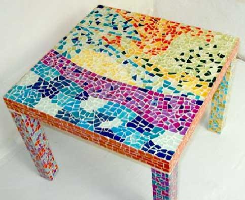 Decoration d interieur mobilier mosaique anoussia - Table mosaique rectangulaire ...