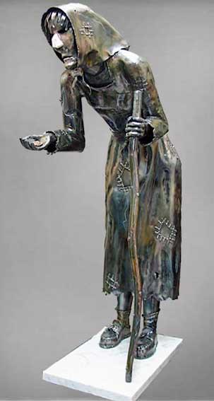sculptures metal archange aronica artiste sculpteur. Black Bedroom Furniture Sets. Home Design Ideas