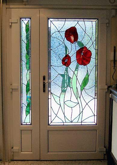 Creation de vitraux vitrail pour vos portes fenetres for Verre pour fenetre
