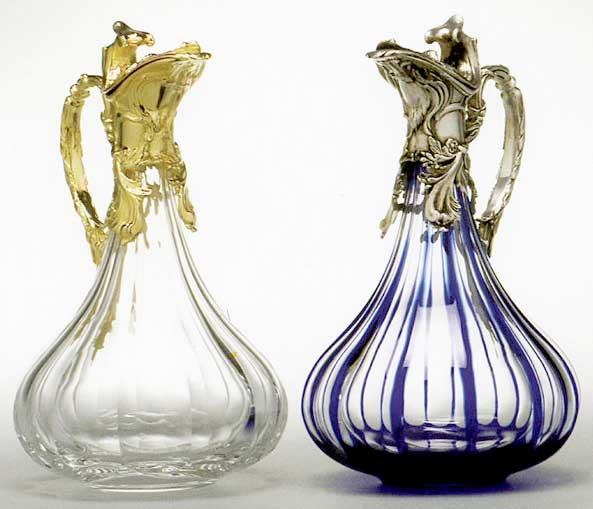 aiguieres en cristal de luxe art de la table decoration de la maison franck benito