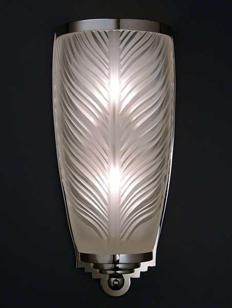 appliques art deco cristal appliques verre luminaires. Black Bedroom Furniture Sets. Home Design Ideas