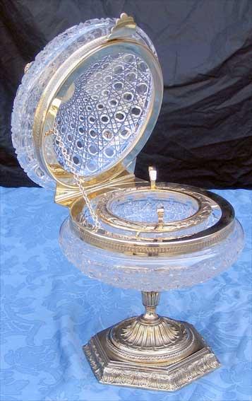 bonbonniere de luxe bonbonniere cristal taillee main decoration maison cristal de luxe benito