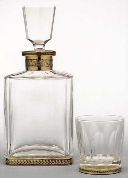 carafes a whisky cognac en cristal taillees main decoration de la maison franck benito. Black Bedroom Furniture Sets. Home Design Ideas
