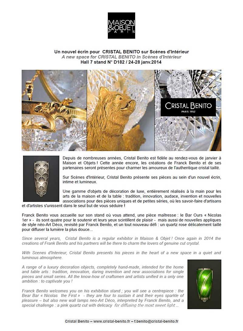 Art de la table cristal decoration maison cristal - Maison regionale des arts de la table ...