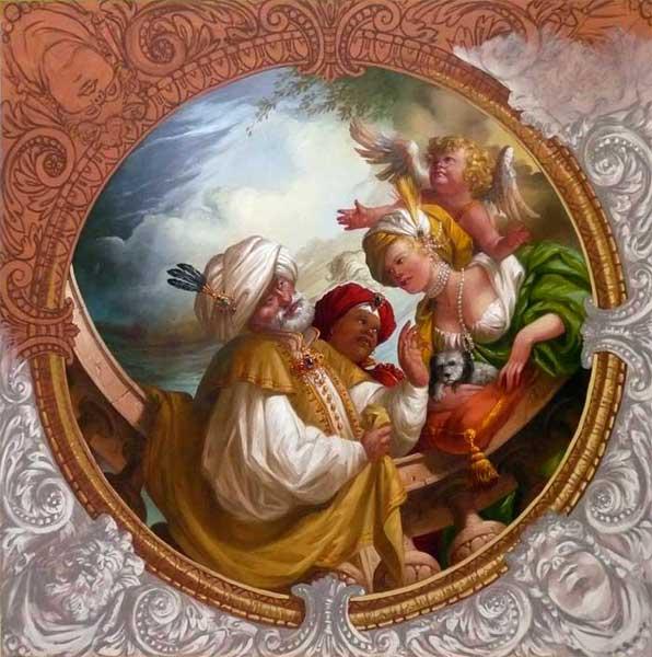 Decoration Peintre Satinée : Peintre en decor thierry bruet decoration d interieur