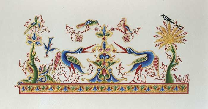 Enluminure creation par martine connay - Le salon du manuscrit ...