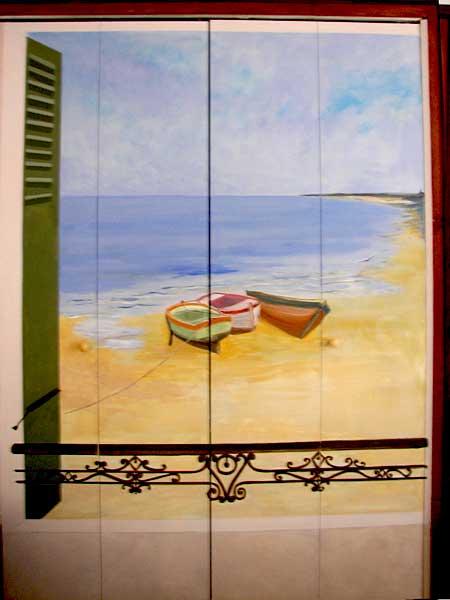 trompe l oeil deco peintre en decor languedoc roussillon fresque peinture murale toulouse. Black Bedroom Furniture Sets. Home Design Ideas