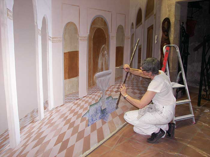 Peintre en decor languedoc roussillon staffeur stucateur for Trompe l oeil interieur