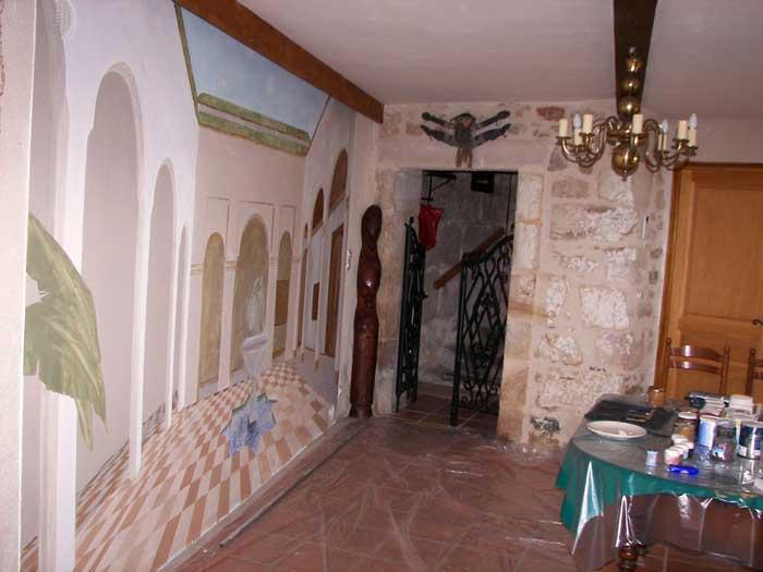 Trompe l oeil deco peintre en decor languedoc roussillon for Decoration trompe l oeil