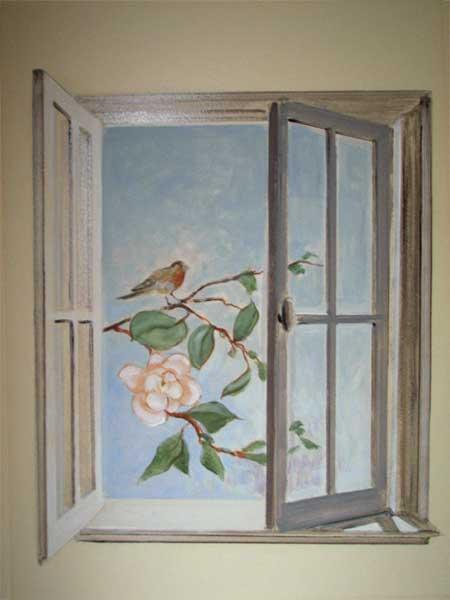 Trompe l oeil deco peintre en decor languedoc roussillon for Decoration fausse porte