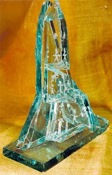 sculptures en verre francoise daudeville. Black Bedroom Furniture Sets. Home Design Ideas