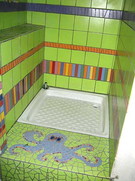 Salle de bain d coration odile maffone mosaiste - Decoration des douches ...