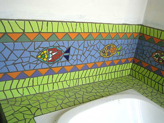 salle de bain d coration odile maffone mosaiste. Black Bedroom Furniture Sets. Home Design Ideas