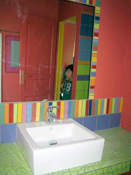 Salle de bain décoration, Odile Maffone mosaiste.
