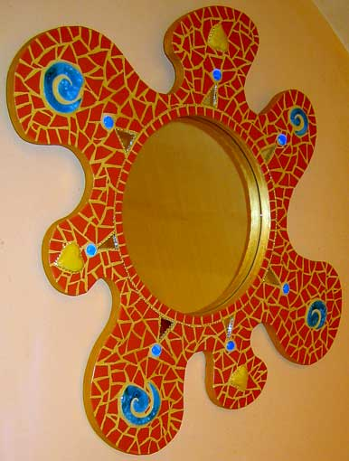 Decoration d interieur miroirs mosaique deco odile maffone for Mosaique miroir