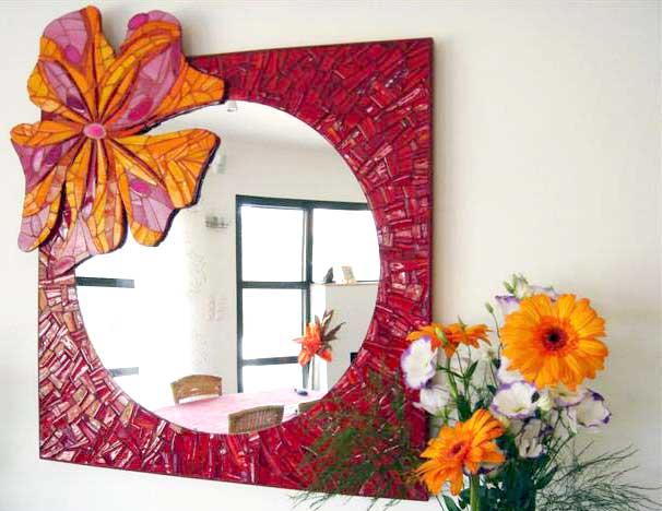 Mobilier mosaique decoration mosaique mozaic toone pour votre decoration d - Mosaique de miroir casse ...