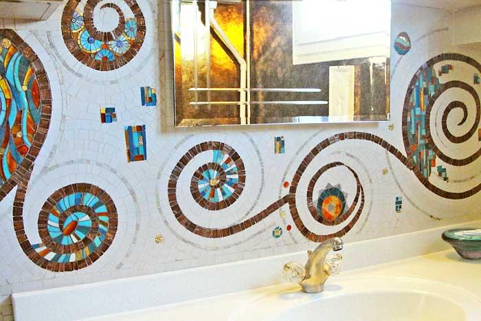 Mobilier mosaique decoration mosaique mozaic toone pour for Deco mosaique salle de bain
