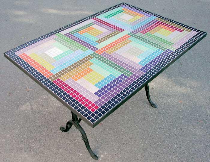 Decoration d interieur mobilier decoration jean pyrka - Table mosaique rectangulaire ...