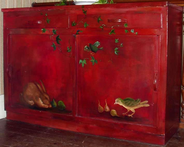 Meubles peints decoration faux bois faux marbre trompe for Meuble peint