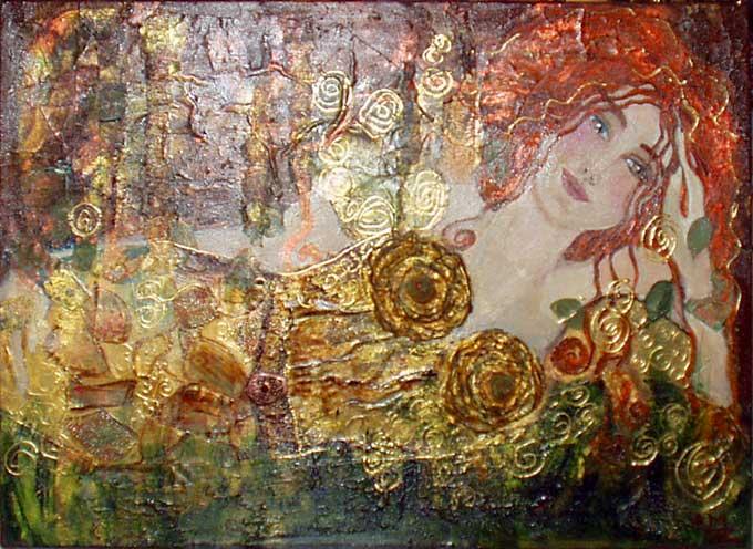 Artiste peintre peintures oniriques anne mrie zylberman for Peinture avec paillette